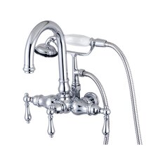 <strong>Elements of Design</strong> Hot Springs Double Handle Wall Mount Clawfoot Tub Faucet
