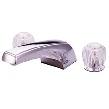 Double Handle Deck Mount Roman Tub Faucet Trim Clear Acrylic Handle