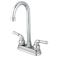 <strong>Elements of Design</strong> Magellan Centerset Bar Faucet with Magellan Lever Handles