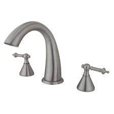 Double Handle Deck Mount Roman Tub Faucet Trim Templeton Lever Handle