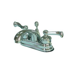 <strong>Elements of Design</strong> Milano Centerset Bathroom Faucet with Double Lever Handles