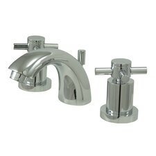 South Beach Double Cross Handle Mini-Widespread Bathroom Faucet