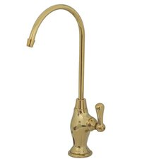 Filtration Single Handle Single Hole Kitchen Faucet with Metal Lever Handles