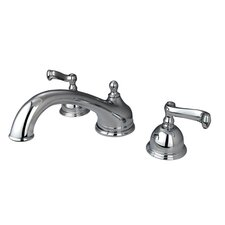 Chicago Double Handle Deck Mount Roman Tub Faucet