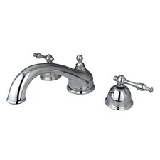 Chicago Double Handle Deck Mount Roman Tub Faucet Trim Naples Lever Handle