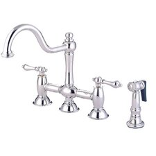 Double Handle Widespread Bridge Faucet with American Lever Handle