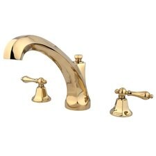 Metropolitan Double Handle Deck Mount Roman Tub Faucet Trim Metal Lever Handle