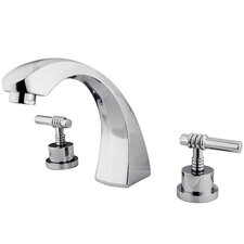 Double Handle Deck Mount Roman Tub Faucet
