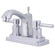 <strong>Elements of Design</strong> South Beach Double Handle Centerset Bathroom Faucet with Brass Pop-Up