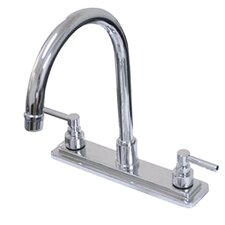 Tampa Double Handle Centerset Kitchen Faucet with Elinvar Lever Handles