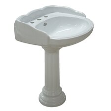 Georgian Pedestal Bathroom Sink