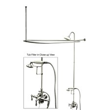 Vintage Shower and Tub Faucet with Metal Lever Handles
