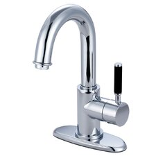 <strong>Elements of Design</strong> Kaiser Single Handle Single Hole Faucet Bathroom with Push-Up Drain