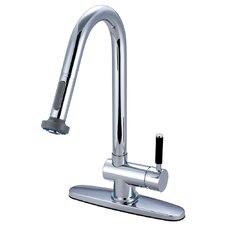 Kaiser Single Handle Single Hole Kitchen Faucet with Pull Down Sprayer