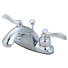 NuWave French Double Handle Centerset Bathroom Faucet with Retail Pop-Up