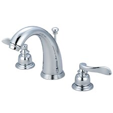 <strong>Elements of Design</strong> NuWave French Double Handle Widespread Bathroom Faucet with Retail Pop-Up