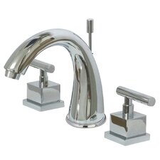 <strong>Elements of Design</strong> Claremont Double Handle Widespread Bathroom Faucets with Brass Pop-Up