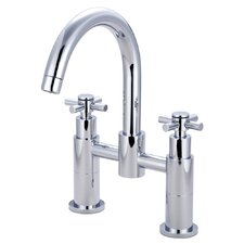 Concord Double Handle Deck Mount Roman Tub Filler