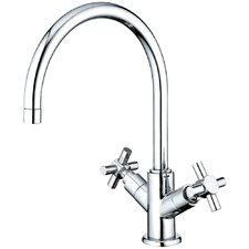 Concord Double Handle Single Hole Bathroom Faucet without Pop-Up and Plate
