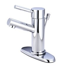 Concord Single Handle Bathroom Faucet with Push-Up Pop-Up and Plate