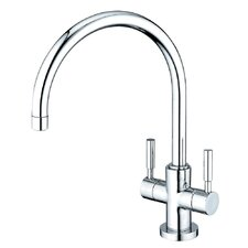Concord Double Handle Kitchen Faucet with Plate