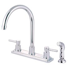 Concord Double Handle Deck Mount Kitchen Faucet with Sprayer
