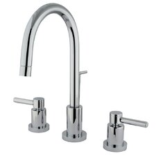 <strong>Elements of Design</strong> Concord Double Handle Mini Widespread Bathroom Faucet with Brass Pop-Up