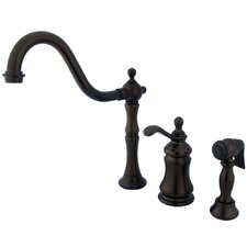 Templeton Single Handle Widespread Kitchen Faucet with Side Sprayer