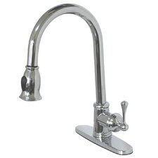 <strong>Elements of Design</strong> Vintage Pull-Down Single Handle Kitchen Faucet