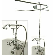 <strong>Elements of Design</strong> Vintage Volume Control Tub and Shower Faucets with Metal Cross Handles