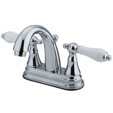<strong>Elements of Design</strong> Elizabeth Centerset Bathroom Faucet with Double Porcelain Lever Handles