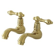 <strong>Elements of Design</strong> Vintage Widespread Bathroom Sink Faucet Set with Metal Lever Handles