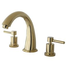 Double Handle Deck Mount Roman Tub Faucet Trim Concord Lever Handle