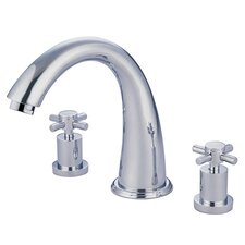 South Beach Double Cross Handle Roman Tub Filler