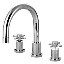 <strong>Elements of Design</strong> South Beach Double Cross Handle Roman Tub Filler