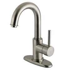 <strong>Elements of Design</strong> South Beach Single Handle Centerset Bathroom Faucet with Push-Up Pop-Up Drain