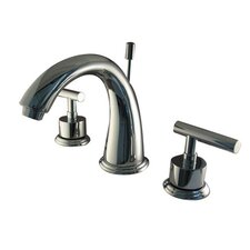 <strong>Elements of Design</strong> Sydney Double Handle Widespread Bathroom Faucet with Brass Pop-Up