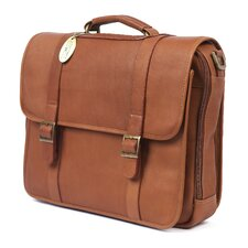 Porthole Leather Laptop Briefcase