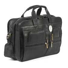 X-Wide Executive Leather Laptop Briefcase