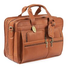 Jumbo Executive Leather Laptop Briefcase