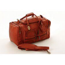 "Executive Sports 17"" Leather Carry-On Duffel"