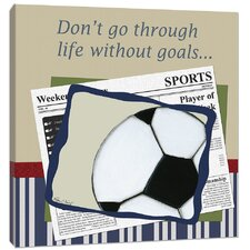 Sports Soccer in the News Giclee Canvas Art