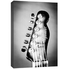 Photography Electric Guitar Headstock Photographic Print on Canvas