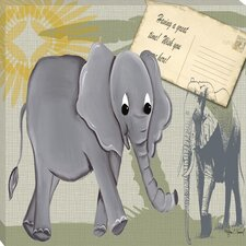 Safari Elephant Giclee Canvas Art
