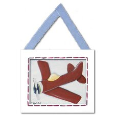 Red Plane Framed Giclee