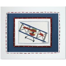 Transportation Bi-Plane Giclee Framed Art