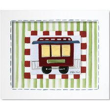 Transportation Caboose Framed Art