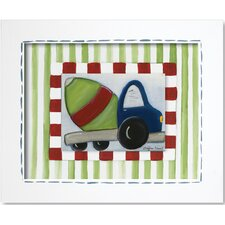Transportation Cement Mixer Framed Giclee Wall Art