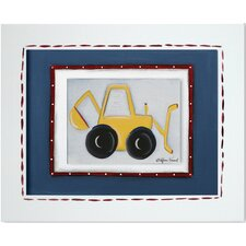 Transportation Backhoe Giclee Framed Art