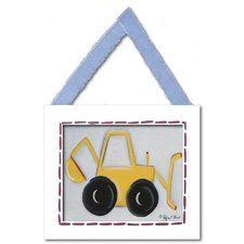Backhoe Framed Giclee